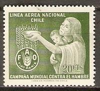 CHILI   -   Aéro   -  1963.  Y&T N° 214 *.   FAO   /   Blé  /  Contre La Faim - Chile