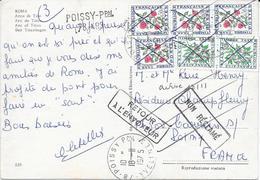 1975 TIMBRE TAXE RETOUR A L'ENVOYEUR POISSY - Postage Due Covers