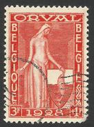 Belgium,  3 F + 1 F. 1928, Sc # B75, Mi # 241, Used