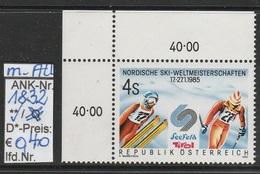 """17.1.1985 - """"Nordische Skiweltmeisterschaften - Seefeld""""  -  **  Postfrisch Mit Allongen  -  Siehe Scan  (1832 MA)"""
