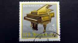 Österreich 2451 Oo/used, 175 Jahre Klavierfabrik Bösendorfer, Anton-Grosser-Flügel