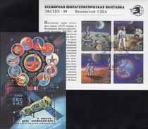 Tag Kosmonauten 1983 Sowjetunion Blocks 164+210 O 5€ EXPO Washington 1989 S/s Blocs Space Sheets Ms Bf USSR CCCP SU