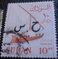 Sudan 1962 Sailing Boat Official 10pia - Used - Soudan (1954-...)