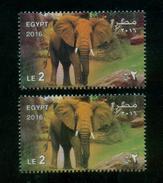 EGYPT / 2016 / GIZA ZOO ; 125 YEARS / ANIMALS / ELEPHANT / RARE COLOR VARIETY / MNH / VF - Ungebraucht