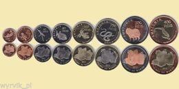 AMAZONIA 2012 Set Of 8 Coins UNC - Munten