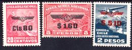 CHILI - N°PA 50/52** - Timbres De 1931 Surchargés - Série Complète - LUXE - Chile
