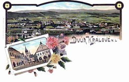 Dvur Kralové 1899, Kreis - Okres: Trutnov, Tschechische Republik, Litho, Reproduction - República Checa