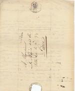 959/24 - Précurseur 94 LOUVAIN 1808 à LIERRE - Cachet Mairie De Louvain - Port Encre 3 Décimes + 1/2 (messager) = 3 1/2 - 1794-1814 (French Period)