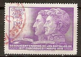 CHILI   -   Aéro   -  1968.  Y&T N° 245 Oblitéré. - Chile