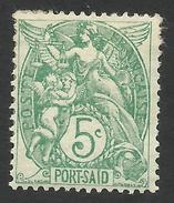 Port Said, 5 C. 1902, Sc # 22, Mi # 22a, MH - Ungebraucht