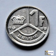 Bélgica - 1 Franc - 1989 - 04. 1 Franco