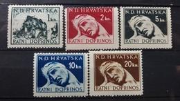CROATIA NDH 1943 WAR CONTRIBUTION CHARITY STAMPS FULL SET MINT NEVER HINGED - Croatia