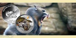 NIGER 2013 OLIVE PAVIAN 1000 Francs 1oz Ag UNC CoA Box - Niger