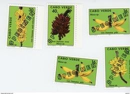 Cap Vert-Cabo Verde-1994-SPECIMEN-Bananier,Expo Philakoréa-YT 656/9***MNH