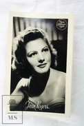 Metro Goldwyn Mayer Actress: Jean Rogers Real Photo Advertising Card/ Leaflet - Other