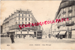 75005 - 75 - PARIS - RUE MONGE  TRAMWAY - District 05