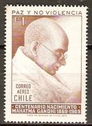 CHILI   -   Aéro   -  1970.  Y&T N° 266 **.   Le Mahatma GANDHI. - Chile