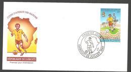 FDC  DJIBOUTI COUPE  D AFRQUE DES NATIONS    1992