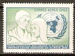 CHILI   -   Aéro   -  1971.  Y&T N° 276 *.   UNICEF - Chile