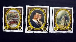 Österreich 2473/5 Oo/used, 150. Jahrestag Der Hochzeit Von Kaiserin Elisabeth Und Kaiser Franz Joseph