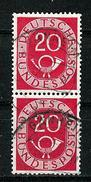 Bund 1951: Posthorn, Mi.-Nr. 130,  S-Paar Gest.