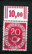 Bund 1951: Posthorn, Mi.-Nr. 130,  OR Gest.