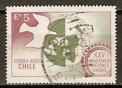 CHILI   -   Aéro   -  1970.  Y&T N° 271 Oblitéré.   O. N. U.   /   Colombe De La Paix - Chili