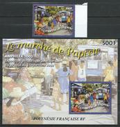 French Polynesia / Polynésie Française 2002 Market Place, Papeete, A. Deymonaz.S/S And Stamps.MNH - Polinesia Francese