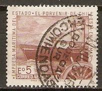 CHILI   -   Aéro   -  1971.  Y&T N° 272 Oblitéré.    Marine Marchande  /  Bateau - Chile