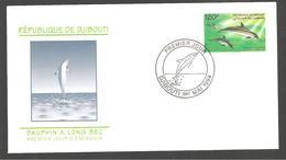 FDC  DJIBOUTI   DAUPHIN  A LONG BEC  1994