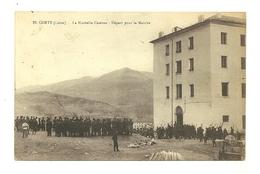 20 Corté La Nouvelle Caserne Départ Pour La Marche 173éme Régiment D' Infanterie 14ème Compagnie Militaria Haute Corse