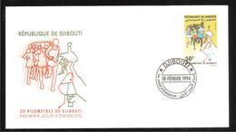 FDC  DJIBOUTI  20 KILOMETRES DE DJIBOUTI