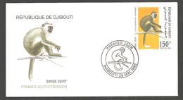 FDC  DJIBOUTI  SINGE VERT   1993