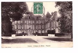 77 Villiers En Biere Vosves Chateau De Breau La Façade Cachet 1910 - Autres Communes