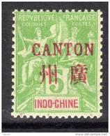 Canton N° 5 XX Surcharge Carmin : 5 C. Vert-jaune  Sans Charnière, TB