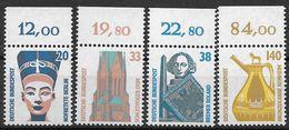 Bund 1989 / MiNr.   1398 – 1401  A  Oberränder  ** / MNH   (e532)