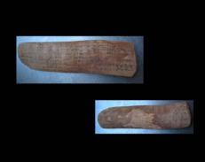 Livre Texte Berbère XIXème En Bois / Old Berber Wooden Book Text Official From Morocco - Livres, BD, Revues
