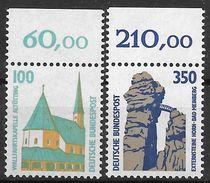 Bund 1989 / MiNr.   1406 – 1407  A  Oberränder  ** / MNH   (e534)