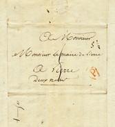963/24 - Précurseur FRANCE PARIS An 13 Vers LIERRE - Port Encre 5 Décimes + 1/2 (messager) = 5 1/2 Décimes - 1794-1814 (French Period)