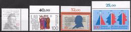 Bund 1989 / MiNr.   1423 , 1424 , 1525 , 1426  Ränder  ** / MNH   (e535)