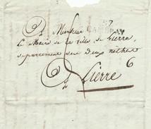 964/24 - Précurseur FRANCE 57 CAMBRAY 1812 Vers LIERRE - Port Encre 5 Décimes + 1 (RARE) (messager) = 6 Décimes - 1794-1814 (French Period)