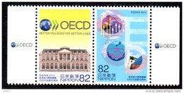 Japon Nippon 2014 6514/15 OCDE , OECD , Organisation Commerce International - Unused Stamps
