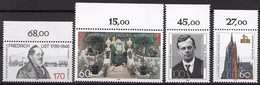 Bund 1989 / MiNr.   1429 , 1430 , 1431 , 1434  Oberränder  ** / MNH   (e537)