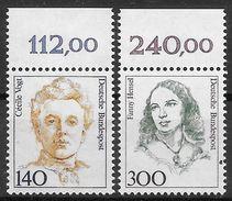Bund 1989 / MiNr.   1432 – 1433  Oberränder  ** / MNH   (e538)