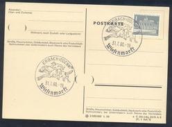Germany Deutschland 1960 Card: Cavallo Horse Pferd Cheval: Equestrian; Wiesenmarkt Ebach Jockey Gallop Race