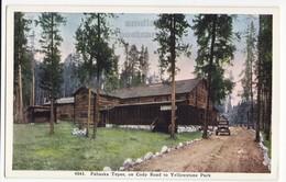 PAHASKA TEPEE On CODY ROAD TO YELLOWSTONE NATIONAL PARK WY WYOMING 1920s Vintage Postcard - Yellowstone
