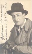 GIOVANNI CIMARA ATTORE ITALIANO AUTOGRAPHE SUR CARTE POSTALE BUENOS AIRES ARGENTINA AÑO 1931 - Autographs