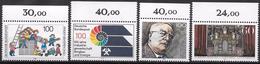 Bund 1989 / MiNr.   1435 , 1436 , 1440 , 1441  Oberränder   ** / MNH   (e539)