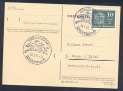Germany Deutschland 1957 Card: Cavallo Horse Pferd Cheval: Equestrian; Wiesenmarkt Ebach Jockey Gallop Race