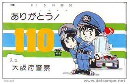 Télécarte Polizei (22)  Police - Motorrad - Police Motorcycle - Phonecard Japan Telefonkarte Japon - Police